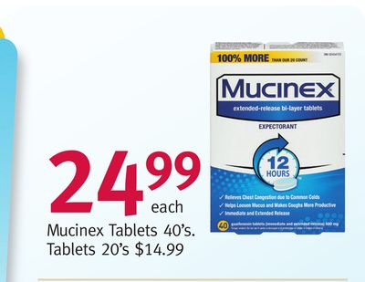 Mucinex Tablets 40's