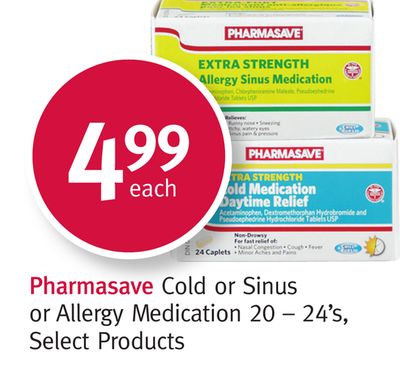 Pharmasave Cold or Sinus or Allergy Medication