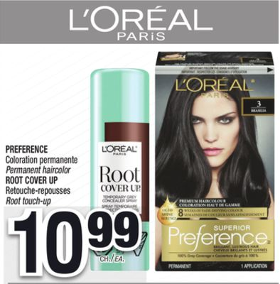 loral paris preference coloration permanente root cover up retouche repousses - Coloration Preference