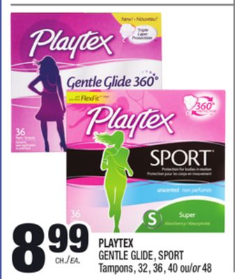 Playtex Simply Gentle Glide Tampons, Scented, Multi-Pack, 36ct. (18 Regular, 18 Super Absorbency) Product - Playtex Simply Gentle Glide Tampons, Unscented, Multi-Pack 36ct.