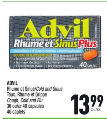 advil rhume et sinus cold and sinus on sale. Black Bedroom Furniture Sets. Home Design Ideas
