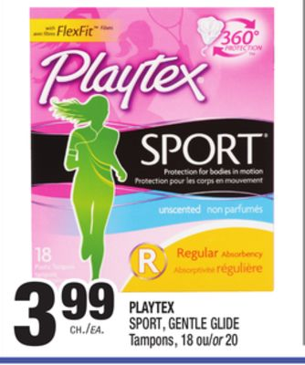 Sep 07, · Best Answer: Playtex gentle glide gives you more options regarding absorbency. They have slender light, regular, super, super plus and ultra. Playtex sport tampons are only available in regular and super absorbency. The playtex sport tampons are marketed to provide sport level protection and comfort but Status: Resolved.