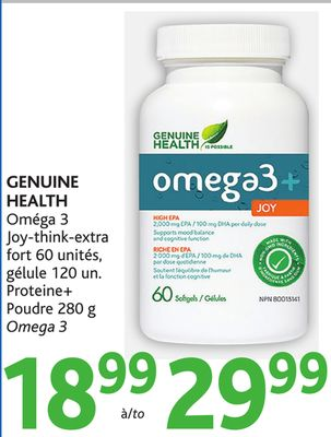 Genuine health omega 3