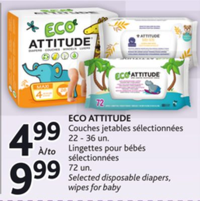 Eco Attitude Couches Jetables on sale | Salewhale.ca