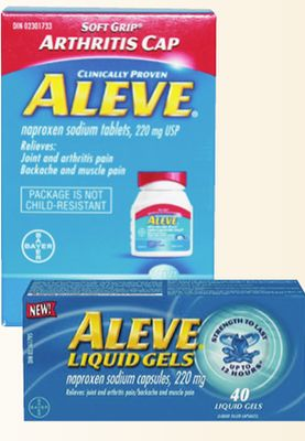 Aleve 220mg Liquid Gels 40 S Or Soft On Sale Salewhale Ca