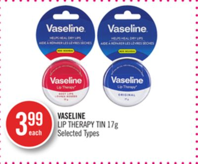 The skin on your lips is thinner than other parts of your body so it loses moisture faster, making it prone to becoming dry and dull. Vaseline Limited Edition Lip Therapy Lulu Guinness features the classic Vaseline moisture-locking formula which helps to keep lips protected.