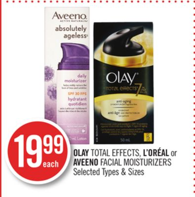Olay Total Effects - L'oréal or Aveeno Facial Moisturizers