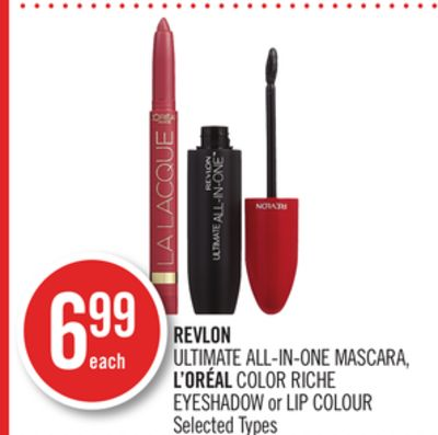 Revlon Ultimate All-in-one Mascara - L'oréal Color Riche Eyeshadow or Lip Colour