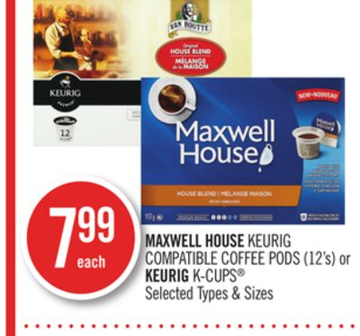 Maxwell House Keurig Compatible Coffee PODS (12's) or Keurig K-cups