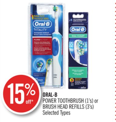 Oral-b Power Toothbrush (1's) or Brush Head Refills (3's)