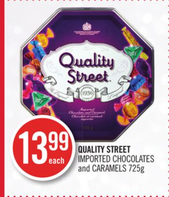 Quality Street Imported Chocolates and Caramel