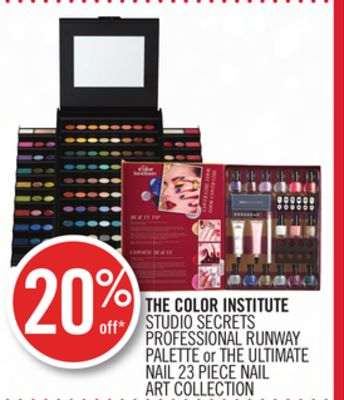 The Color Institute Studio Secrets Professional Runway Palette or The Ultimate Nail 23 Piece Nail Art Collection
