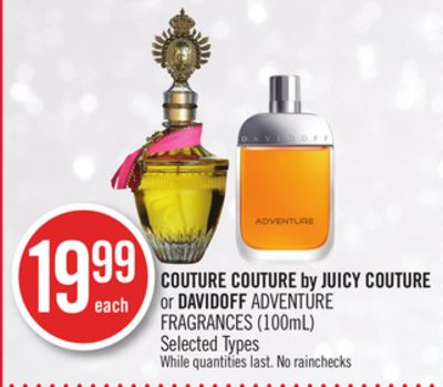 Couture Couture By Juicy Couture or Davidoff Adventure Fragrances (100ml)