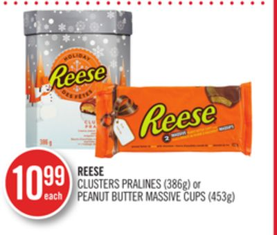 Reese Clusters Pralines (386g) or Peanut Butter Massive Cups (453g)