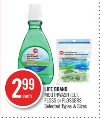 Life Brand Mouthwash (1l) - Floss or Flossers