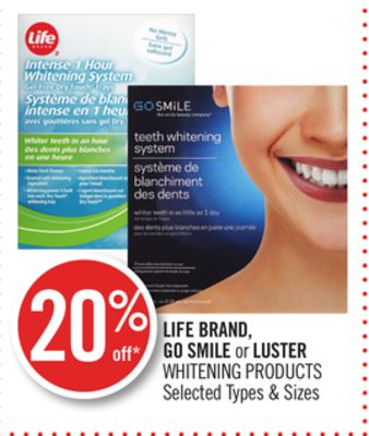 Life Brand - Go Smile or Luster Whitening Products