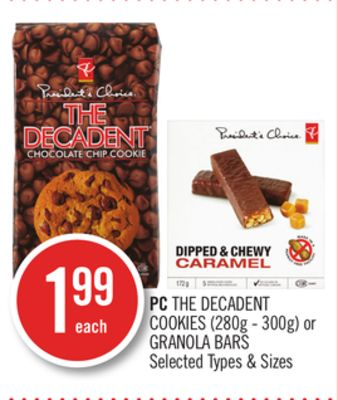PC The Decadent Cookies (280g - 300g) or Granola Bars