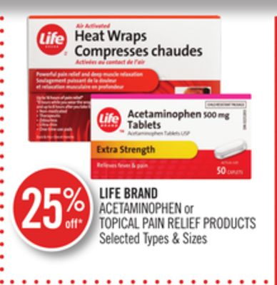 Life Brand Acetaminophen or Topical Pain Relief Products