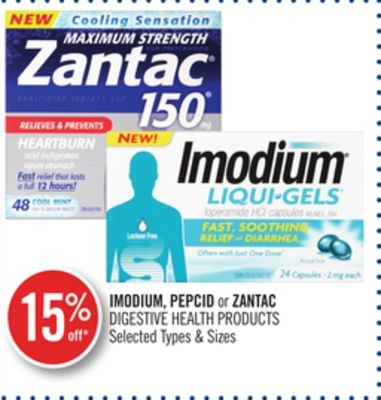 Imodium - Pepcid or Zantac Digestive Health Products