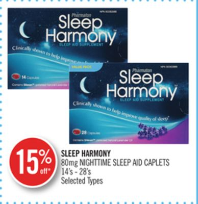 Sleep Harmony 80mg Nighttime Sleep Aid Caplets