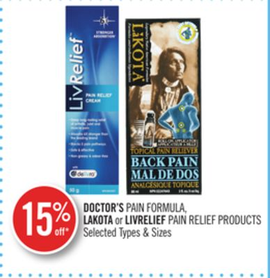 Doctor's Pain Formula - Lakota or Livrelief Pain Relief Products