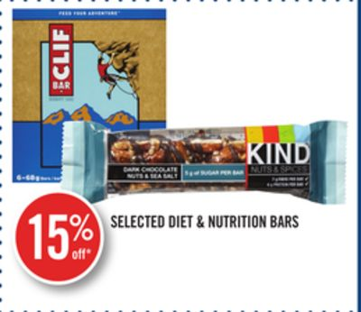 Selected Diet & Nutrition Bars