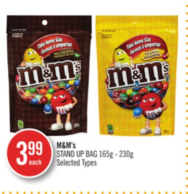 M&m's Stand Up Bag