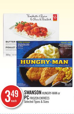 Swanson Hungry-man or PC Frozen Entrées