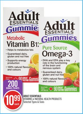 Adult Essentials Vitamins or Natural Health Products