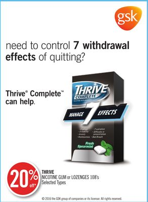 Thrive Nicotine GUM or Lozenges