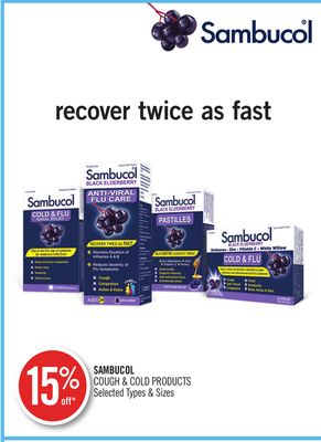 Sambucol Cough & Cold Products