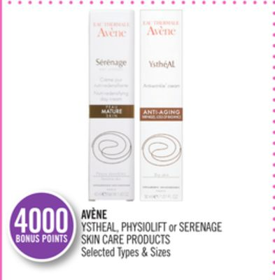 Avène Ystheal - Physiolift or Serenage Skin Care Products