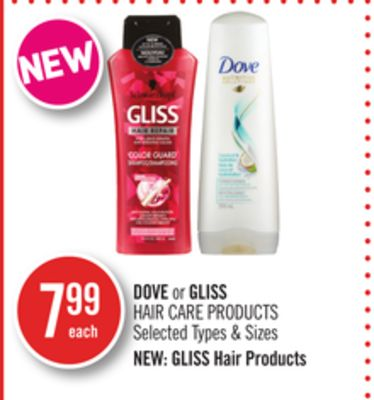 Dove or Gliss Hair Care Products