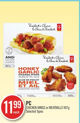PC Chicken Wings or Meatballs 907g