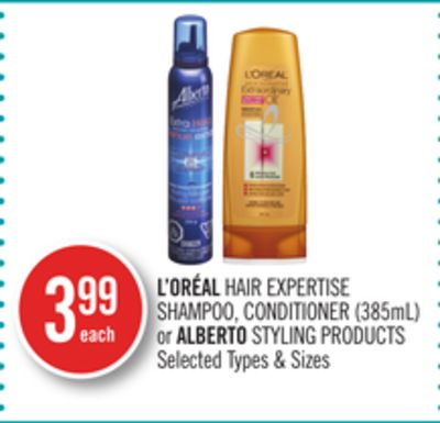 L'oréal Hair Expertise Shampoo - Conditioner (385ml) or Alberto Styling Products