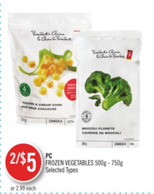 PC Frozen Vegetables 500g - 750g