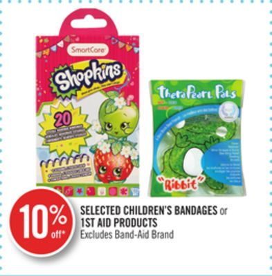 Selected Children's Bandages or 1st Aid Products