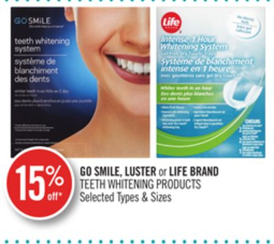Go Smile - Luster or Life Brand Teeth Whitening Products