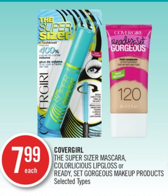 Covergirl The Super Sizer Mascara - Colorlicious Lipgloss or Ready - Set Gorgeous Makeup Products