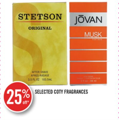 Selected Coty Fragrances