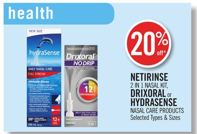 Netirinse 2 In 1 Nasal Kit - Drixoral or Hydrasense Nasal Care Products