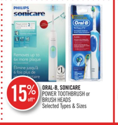 Oral-b - Sonicare Power Toothbrush or Brush Heads