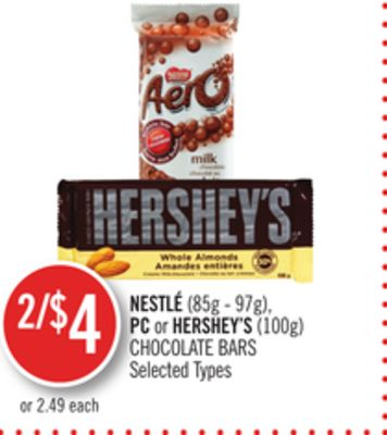 Nestlé(85g - 97g) - PC or Hershey's (100g) Chocolate Bars