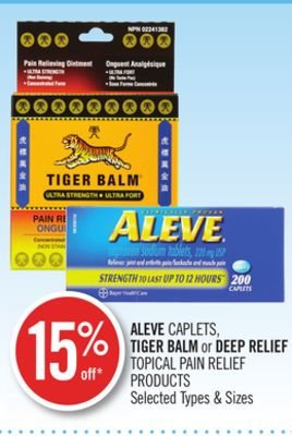 Aleve Caplets - Tiger Balm or Deep Relief Topical Pain Relief Products