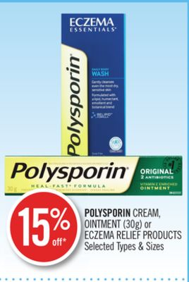 Polysporin Cream - Ointment (30g) or Eczema Relief Products