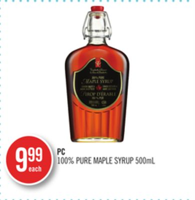 PC 100% Pure Maple Syrup 500ml