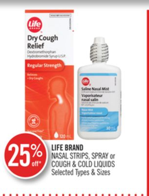 Life Brand Nasal Strips - Spray or Cough & Cold Liquids