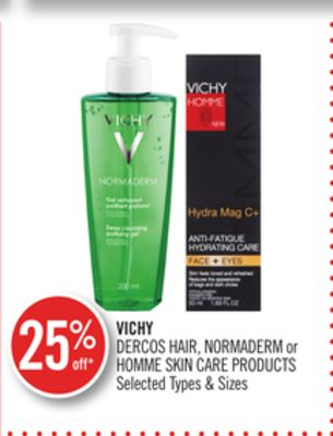 Vichy Dercos Hair - Normaderm or Homme Skin Care Products