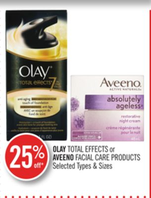 Olay Total Effects or Aveeno Facial Care Products
