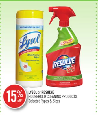 Lysol or Resolve Household Cleaning Products